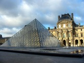 Pyramid by I.M. Pei (entrance to the Louvre)