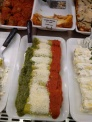 Italian flag in cannelloni