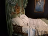 Welcoming bed of the courtesan Valtesse de la Bigne, late 19th century