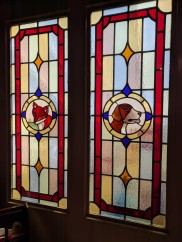Stained glass at the Hunt Club